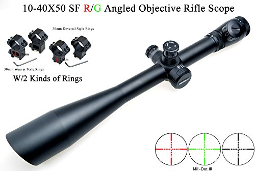 Eagle Eye, Saxon Rifle Scope 10-40x50 SF (30mm) Rouge Vert coudé Objectif  Mil 4f00a5afa65c