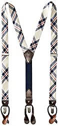 Tommy Hilfiger Mens 30mm Fabric Suspender, Plaid, One Size