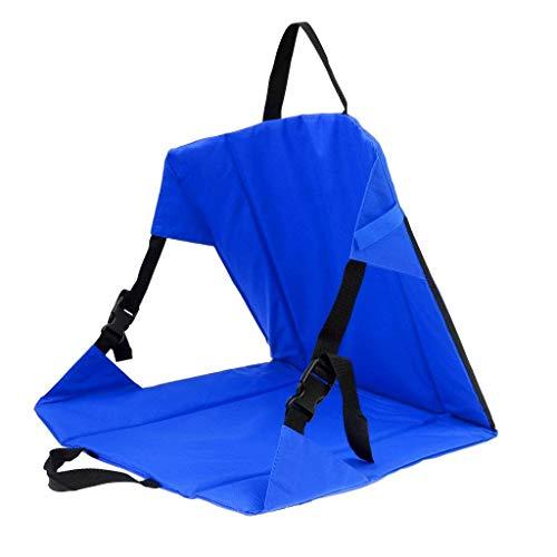 zhbotaolang Stade Siège Coussin Camping Chaise - Plage Jardin Fête Arrière-Cour Pliable Portable Pique-Nique Randonnée Loisir Séance Tampon Bleu