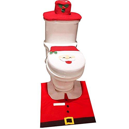 Gummi-lagerung-container Groß (SZsaien Sankt Anzug WC Sitzbezug Teppich Weihnachten Ferienhaus Geschenk Dekorationen Badezimmer Set)
