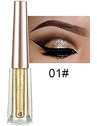 PinzhiDYT Wasserdicht Diamant Glitter Eyeliner Lidschatten Gel Bunte Flüssige Lidschatten (color1)