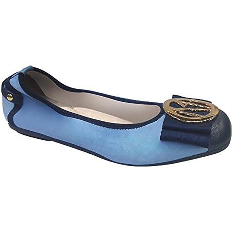 Moda resbalón lindo de la mujer en los planos del ballet de piel de oveja de cuero de los zapatos ocasionales