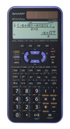 EL-W506 X-VL wissenschaftlicher Schulrechner, WriteView-Anzeige, Farbe violett-metallic, SEK II, 556 Funktionen, TWIN-Power