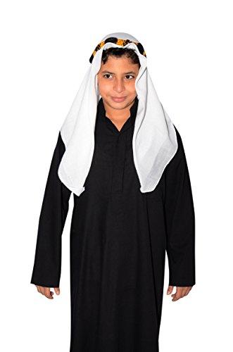 Saudi Arabische Kostüm Kinder - Egypt Bazar Kinder Araberkostüm Kostüm Araber Scheich Scheichkostüm Kinderkostüm, schwarz (146/152 (10-11 Jahre))