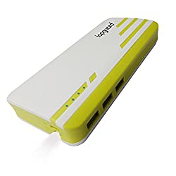 Lapguard Sailing-1530 Power Bank 10400 mAh Make In India portable Charger powerbank -white-Yellow