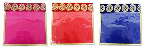 WeddingPitara Designer Embroidered Saree Covers (Pack of 3)