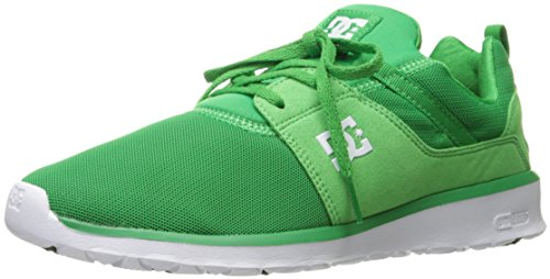 DC Heathrow Skate Shoe, Black/Grey/Green, 14 M US Green