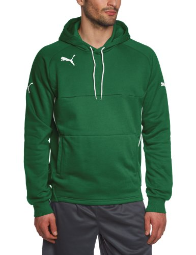 PUMA 653979 - Felpa Uomo, Verde (Power Green-white), L