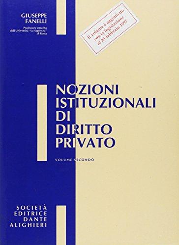 Nozioni istituzionali di diritto privato. Per le Scuole superiori: 2