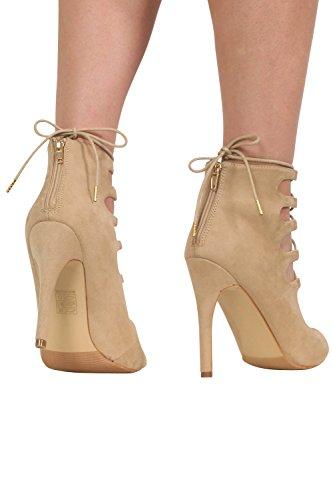 PILOT® lacer des chaussures à talons hauts pierre