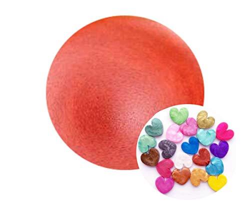 1pc Metálico Perla Roja Cosmética Mica Polvo Pigmento
