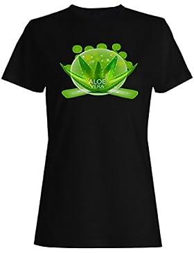 Aloe vera naturaleza estilo de vida saludable camiseta de las mujeres g541f