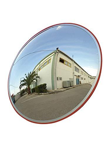 SCM-60-i Miroir convexe de la circulation, incassable, diamètre 60 cm, pour la sécurité routière et de la sécurité du magasin avec support de fixation murale réglable.