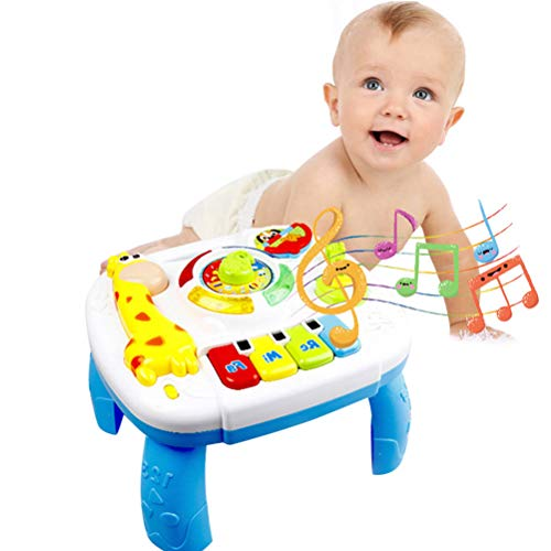 JMF Musical Learning Table Toys Activity Center Game Table With Light And Sound Early Education Toys For Baby