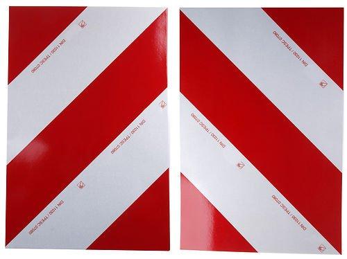 Preisvergleich Produktbild WAMO 2 x Warnfolie 423 x 282 mm DIN11030 links und rechts