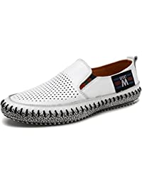 Beauqueen Gentleman's Crocs Lightweight Driving Casual Cuirs Hollow Respirant Soft Outsoles Casual Shoes EU Taille 38-43