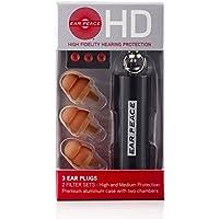 EarPeace HD Protezione Dell'Udito 3 Tappi Orecchie / Scatola, Marrone/Nero