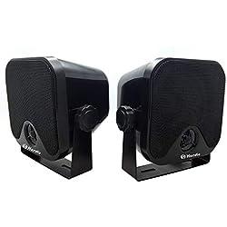 Marine 100 W 10,2 cm Mini Haut-parleurs Haut-parleurs Système Audio Stéréo Etanche pour Moto ATV UTV Orateurs Tracteur Bateau Boîte Orateurs