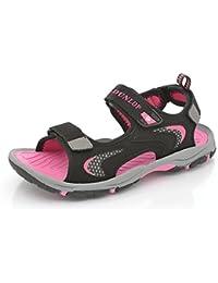 Pour Femmes Dunlop Bout Ouvert Plat Sport Velcro Trekking Sandales Marche