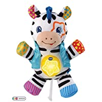VTech Lights & Stripes Zebra Baby Toy, Baby Sensory Toy with Colours, Textures & Crinkle Sounds, Baby Musical Toy for Babies 0, 6, 12 Months Boys & Girls