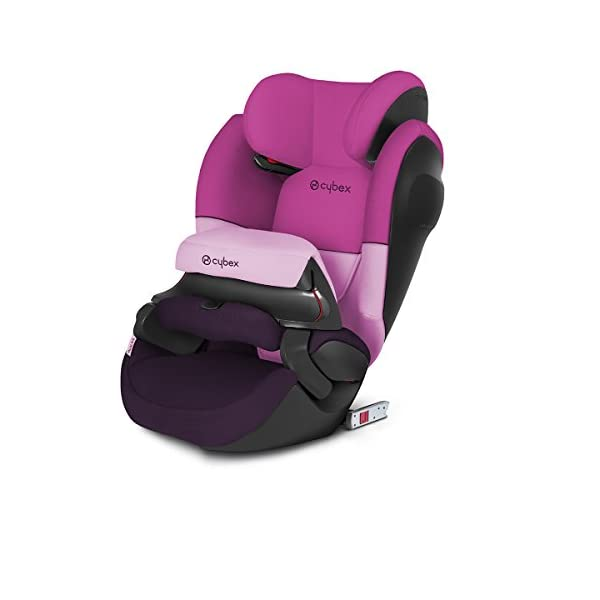 CYBEX Silver Pallas M-Fix SL 2-in-1 Child's Car Seat, For Cars with and without ISOFIX, Group 1/2/3 (9-36 kg), From approx. 9 Months to approx. 12 Years, Purple Rain Cybex Sturdy and high-quality child car seat for long-term use - For children aged approx. 9 months to approx. 12 years (9-36 kg), Suitable for cars with and without ISOFIX Maximum safety - Depth-adjustable impact shield, Built-in side impact protection (L.S.P. System) 12-way adjustable, comfortable headrest, Easy conversion to Solution M-Fix SL for children from 3 years (group 2/3) by removing impact shield and base, Adjustable backrest 1