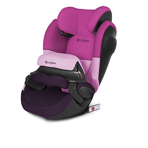 CYBEX Silver 2-in-1 Kinder-Autositz Pallas M-Fix SL, Für Autos mit und ohne ISOFIX, Gruppe 1/2/3 (9-36 kg), Ab ca. 9 Monate bis ca. 12 Jahre, Purple Rain