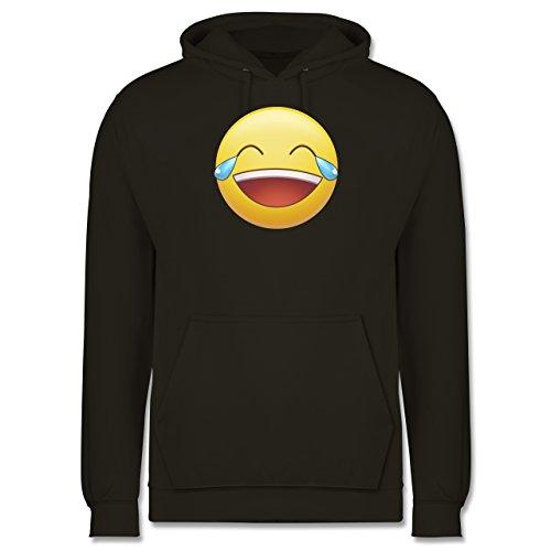 Statement Shirts - Tränen Lachen - Emoji - Männer Premium Kapuzenpullover / Hoodie Olivgrün