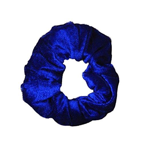 Royal Blau Pritties Accessories Haargummi aus Samt, mittelgroß Elastic Hair Band