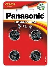 Panasonic CR2032Batería de litio de botón 3V Pack de 4