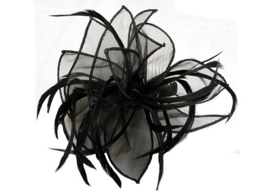 En Organza Noir et Split Plume Cheveux bibi sur peigne