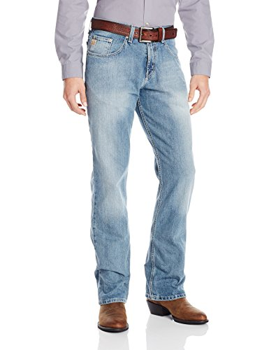 Cinch Men's Dooley Relaxed Fit Jean, Medium Stone Wash, 31W x 34L - Cinch-relaxed Fit Jeans