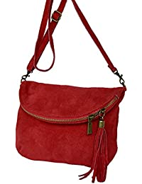 Cuir Messenger / épaule sac de real. Velours / suede Italie