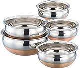#6: Jalpan Cookware Combo - Serving HANDI 5 Pcs. Set - Round Bottom - 550ml, 750ml, 1250ml, 1900ml, 2500ml.