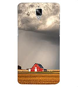 ColourCraft Clouds Design Back Case Cover for OnePlus Three