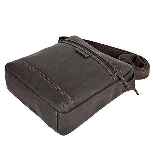 Troop London TLL003 imitation cuir en bandoulière avec compartiment rembourré pour tablette pour végétariens Chic