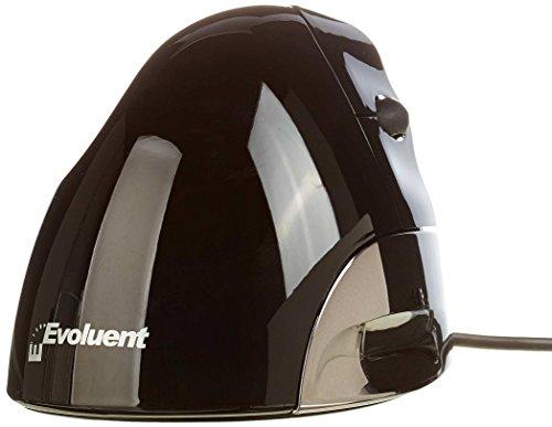 Evoluent Vertikale Ergonomische Maus (Evoluent ergonomische Rechte Hand Vertical Maus (2600dpi, USB) Silber/schwarz)