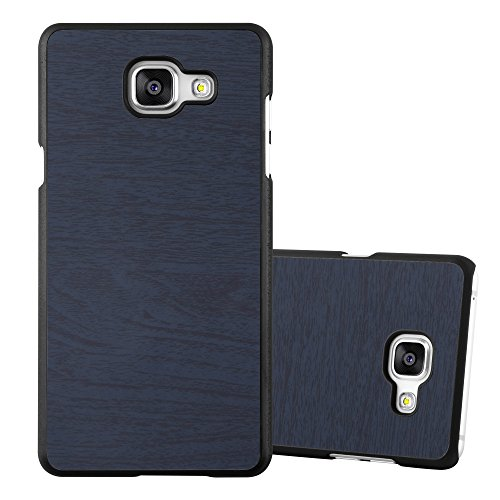 Preisvergleich Produktbild Cadorabo Hülle für Samsung Galaxy A3 2016 (6) - Hülle in Woody BLAU – Hardcase Handyhülle in Vintage Holz Optik - Schutzhülle Bumper Back Case Cover