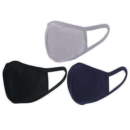 3x máscaras boca exterior algodón Unisex boca