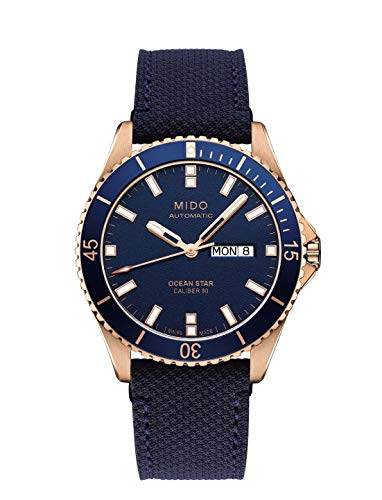 Mido Men's Ocean Star 42.5mm Cloth Band Automatic Watch M026.430.36.041.00