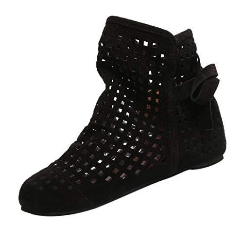 Longra Chelsea Boots Lace-Up Stivaletti da Donna Traspirante Stivaletti a Punta Elegante Sandali Scarpe Casual Caviglia Stivali Donna Stivaletti Pelle Scarpe Boots