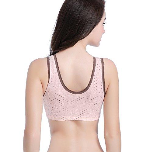 KOOYOL Reggiseno Premaman Allattamento Delle Donne Senza Giunte del Reggiseno Libero Crop Top Vest Comfy Reggiseni Rosa