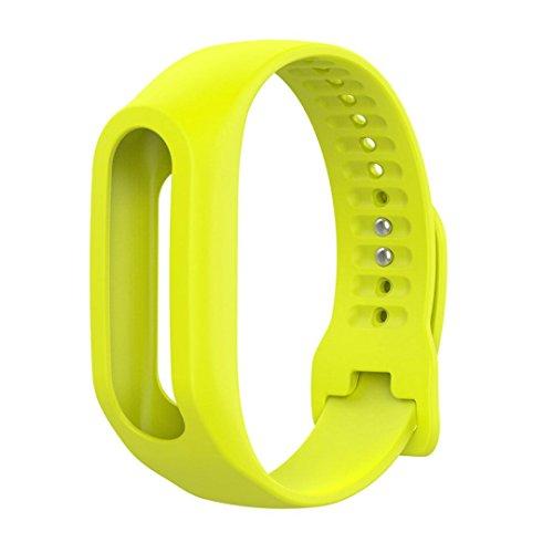 Silikon Ersatz Armband Bracelet,KIMODO Ersatz Silikon Band Strap für TomTom Touch Cardio Activity Tracker (Gelb)