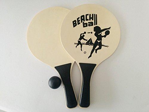 na-und 40088 Beachball Set - 2 Schläger mit Ball