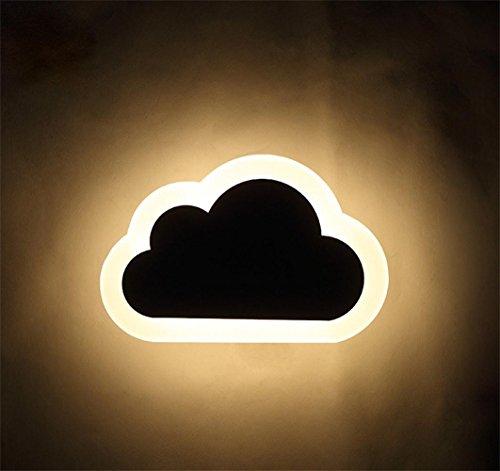 ATD® Little Cloud Acrylique en Applique murale pour l'extérieur Entrée intérieur Couloir Minimaliste moderne Creative chevet Wall Light (blanc chaud)