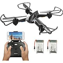 EACHINE Drone avec caméra E32HW FPV WiFi caméra 720P HD, Drone résiste au Vent Fort, Quadcopter avec Camera