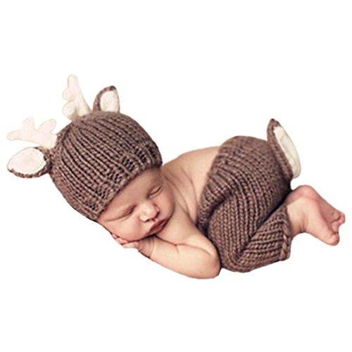 es Baby Jungen Mädchen Kostüm Cartoon Foto Requisiten 0-6 Monate (Hirsche) (Hirsch Kostüm Kleinkind)