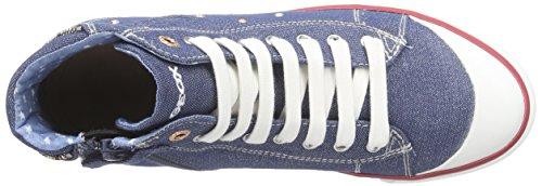 Geox Ciak B, Baskets Basses Fille Blau (JEANSC4001)