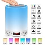 Night Light,JOLVVN Touch Sensor Bedside Lamp with Bluetooth Speaker,Dimmable Warm Light & RGB