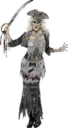 Damen Geisterschiff Piraten Ghul Halloween Kostüm Kostüm Damen Größe L 16 bis 18 - Gespenst Piraten Kostüm Damen