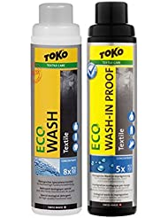 Toko Unisex Twin Pack Eco Textil Wash und ECO Textil wash-in Proof 250 ml